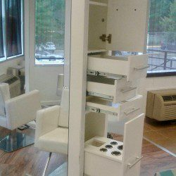 Salon station and Shampoo chairs