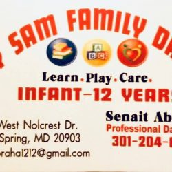 Happy sam family daycare silver spring md